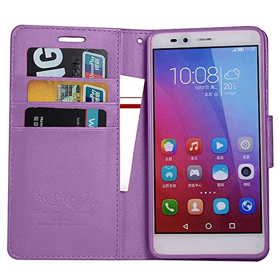 promo code c507a f0e79 Huawei Honor 7X Case, Huawei Mate SE Case, MicroP Slim Folio/Flip Pu  Leather With Stand TPU Bumper Back Wallet Phone Case Cover For Huawei Honor  ...