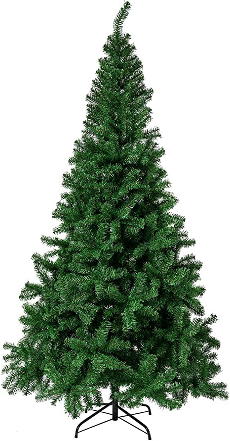Amazon Com Sunnyglade 6 Ft Premium Artificial Christmas Tree 1000 Tips Full Tree Easy To Assemble With Christmas Tree Stand 6ft Home Kitchen