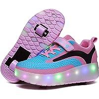 حذاء تزلج للأطفال من ريزيا حذاء تزلج مضيء LED حذاء تزلج بشحن USB حذاء تزلج دوار للأولاد والبنات