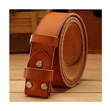 niño los mejores precios entrega rápida Cinturón de cuero sin hebilla lisa dorada para cinturones ...