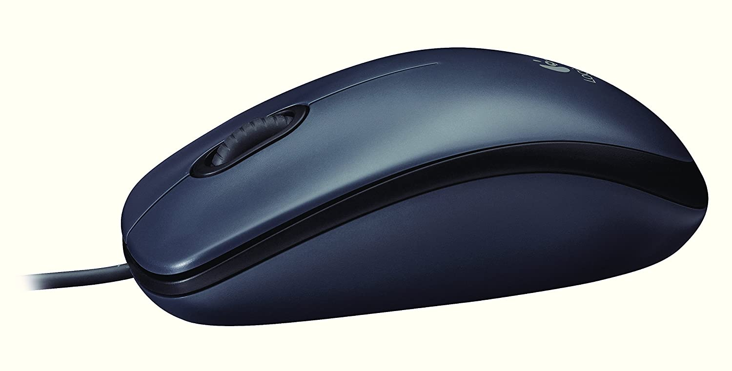 Logitech Wired Mouse M90 Black Usb Computers Accessories B100 Original
