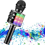2600mAh Karaoke Bluetooth Wireless Microphone, Rechargeable Battery, Colorful LED Lights, Portable Handheld Mic Speaker…