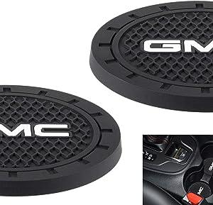 AOOOOP Car Interior Accessories for GMC Cup Holder Insert Coaster - Silicone Anti Slip Cup Mat for GMC Terrain Acadia Yukon Canyon Sierra Savana (Set of 2, 2.75