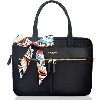 Youpeck Sac pour ordinateur portable étanche pour femme, sac fourre tout, poche RFID ultra fine en nylon, sac à main, style Business, sac à