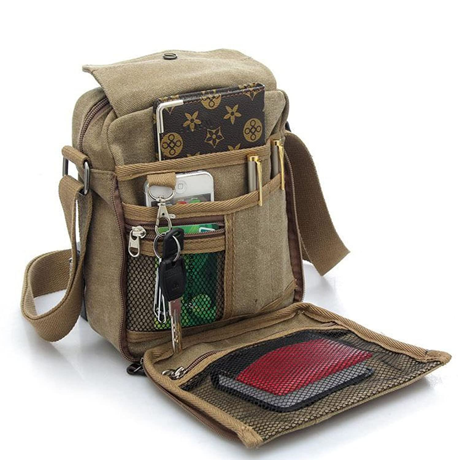 Amazon.com: Men Travel Casual Outdoor Shoulder Bags: Shoes