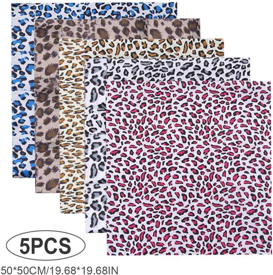 Fat Quarters Fabric Bundles for Sewing DIY Scrapbooking Crafting 5PCS Christmas Cotton Fabric Squares Cotton Quilting Bundles Fabric Patchwork Craft