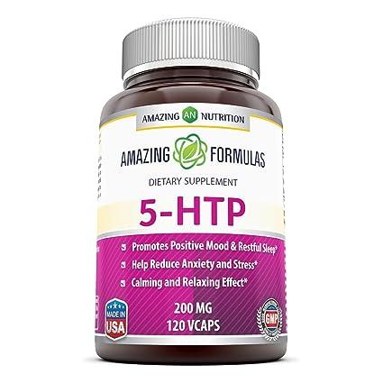 Amazing Nutrition Amazing Formulas 5-htp 200 Mg 120 Vcaps: Amazon.es ...
