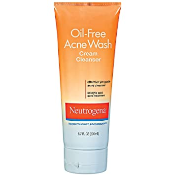 Amazon Com Neutrogena Oil Free Acne Wash Cream Cleanser 6 7