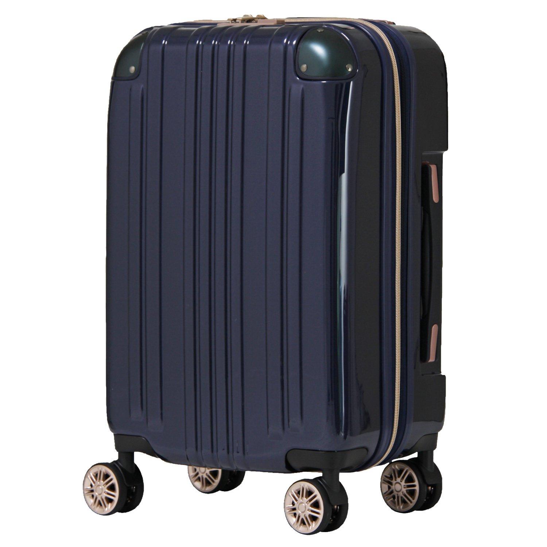 【レジェンドウォーカー】LEGEND WALKER スーツケース アルミフレーム 鏡面ボディ TSAロック 軽量 機内持込~大型 5122 B0798FJ9F3 Mサイズ(フレーム)|ネイビー ネイビー Mサイズ(フレーム)
