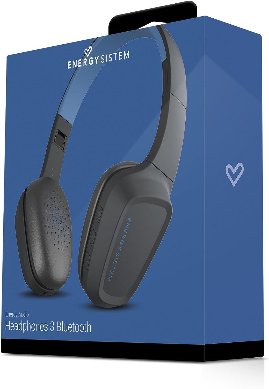 Energy Sistem Headphones 3 Bluetooth Blue (Bluetooth 4.1, contrôle de Lecture, système de Rotation, Batterie Rechargeable, Microphone) – Bleu