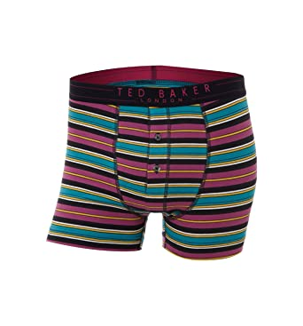 3e3b84d8086d Ted Baker Men s Boxed Kinema Button Fly Boxer Trunk Purple (4 ...
