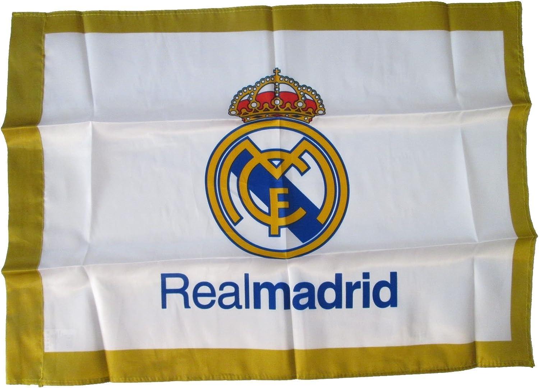 Bandera Real Madrid 70x50cm blanca: Amazon.es: Deportes y aire libre