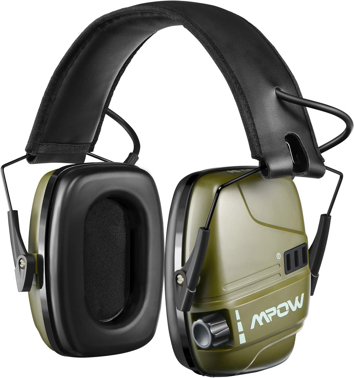 HP094A Electronic Shooting Ear Protection, Rechargeable Earmuffs 30Hrs Playtime, Sound Amplification & Auto Cut Off, NRR 22dB Ear Muffs Noise Reduction, Hunting, Mowing, Woodworking