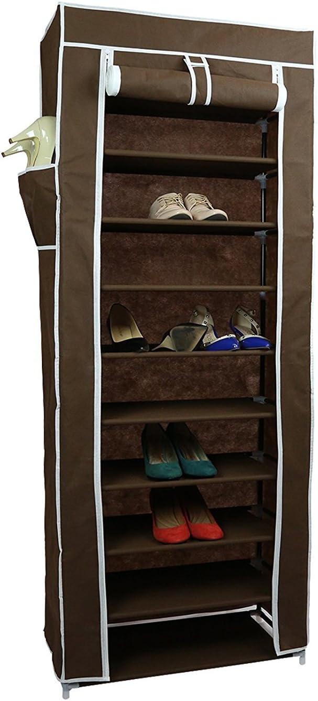 10 Tiers Shoe Rack with Dustproof Cover Closet Shoe Storage Cabinet Organizer ..