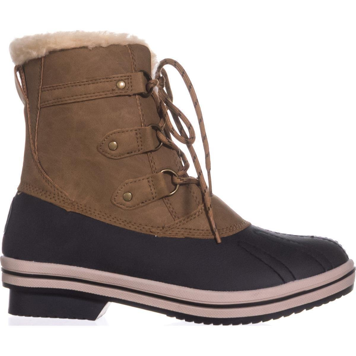 Pawz Womens Gina Faux Leather Cold Weather Winter Boots Brown 6 Medium B,M