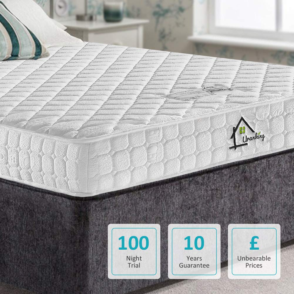 2FT6 Small Single TENCEL Fabric Pocket Sprung and Memory Foam Mattress - Multi-Functional 9-Zone Orthopaedic Mattress - More Sizes Available: 3FT Single / 4FT small Double / 4FT6 Double / 5FT UK King Size / 6FT Super King Size - 100 Nights Trial Ej. Life