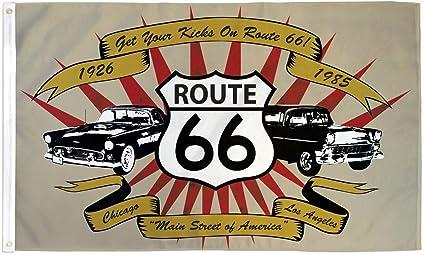 Amazon.com: Ruta 66 coches bandera RTE 66 Banner Highway ...