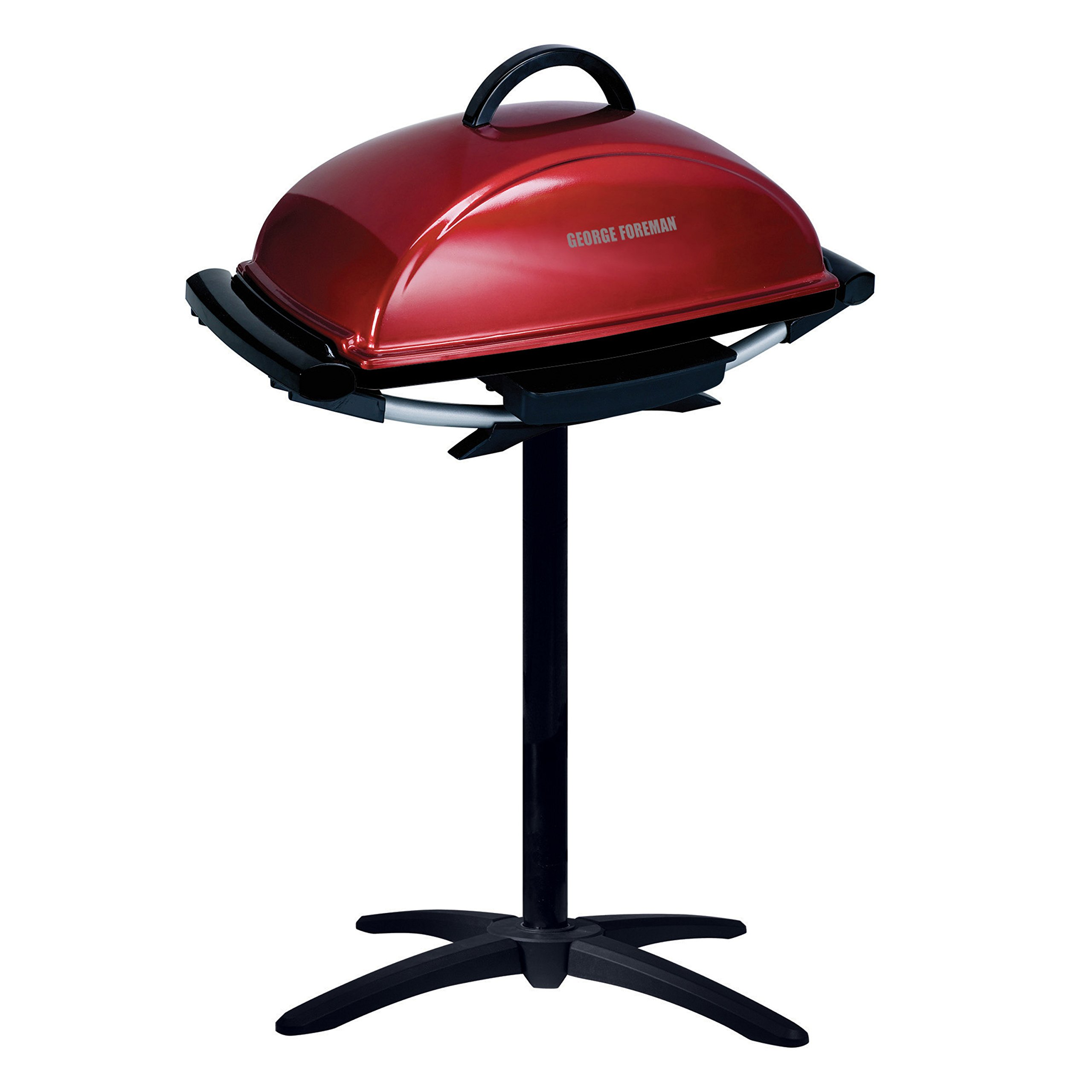 George Foreman 12-Serving Indoor/Outdoor Rectangular Electric Grill, Red, GFO201R by George Foreman