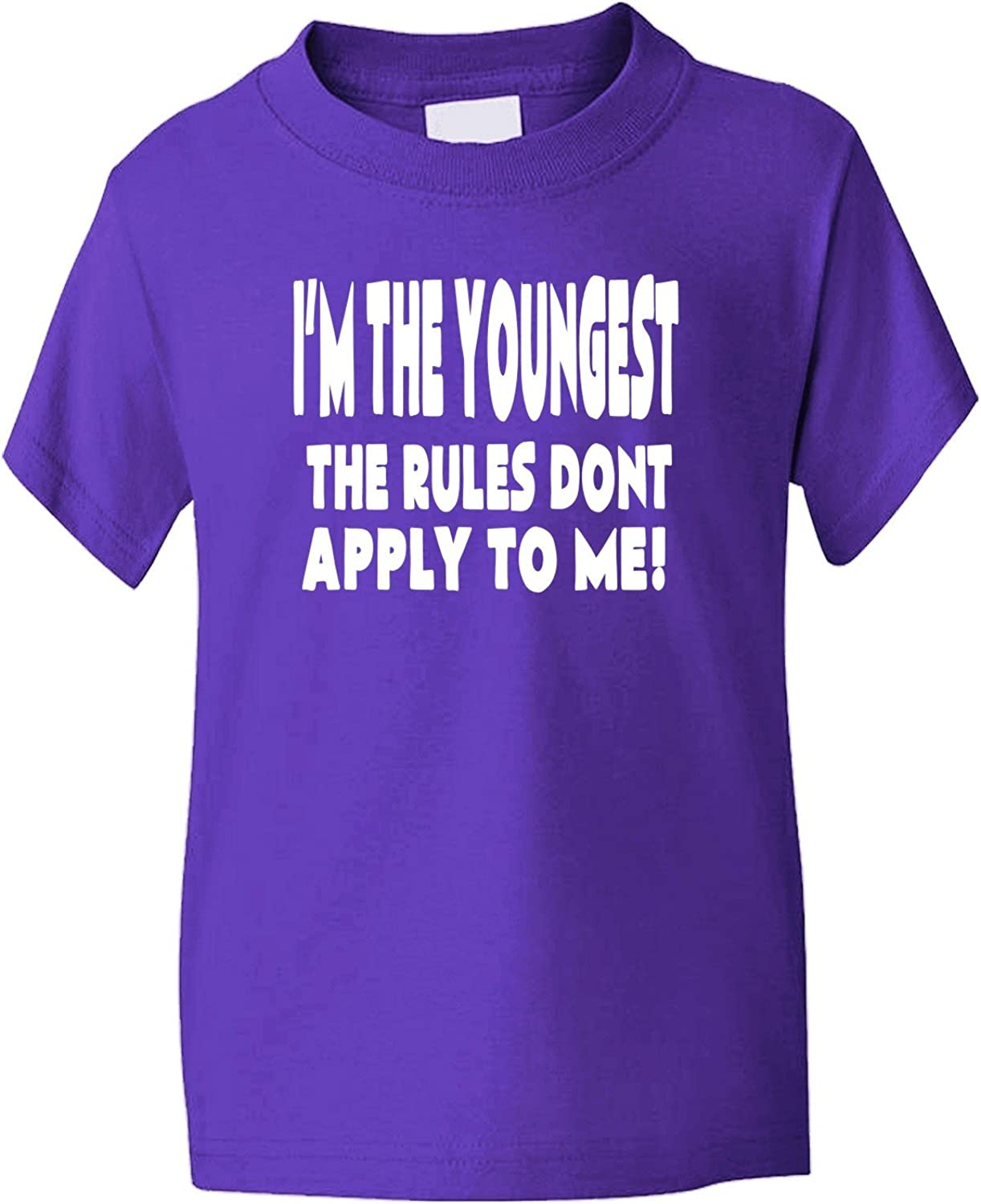 Print4U Im The Youngest Rules Dont Apply to Me Kids T Shirt Age 1-13 Years