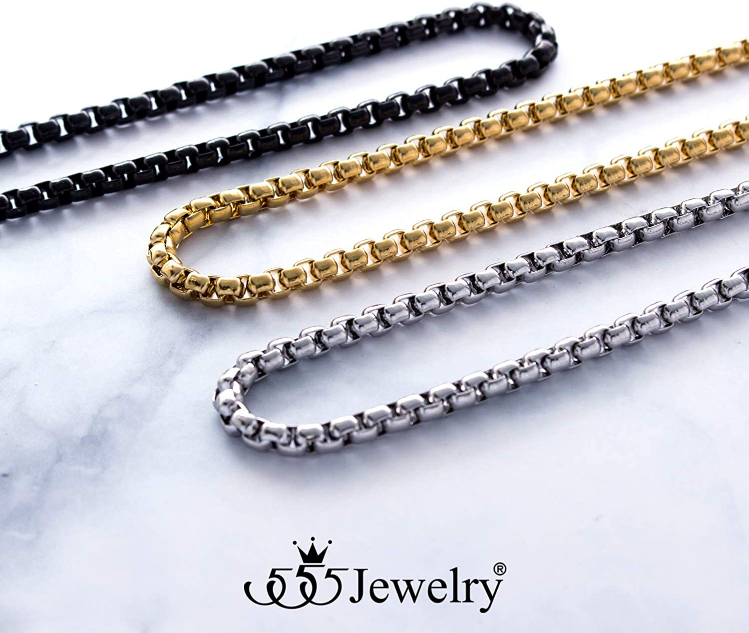 Bulk 2.533.545mm stainelss steel Tetrahedron box chain 2m5m10m for various handicrafts or jewelry