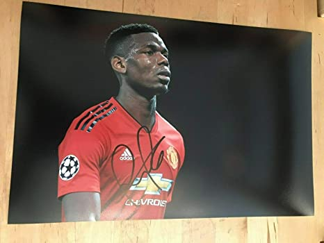 wholesale dealer 611c5 0dbad PAUL POGBA Signed 12 X 8 Inch Soccer Photograph With Free ...