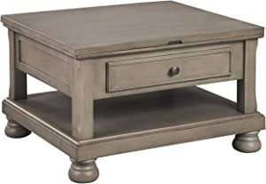 Signature Design by Ashley - Lettner Lift Top Cocktail Table, Grayish Brown