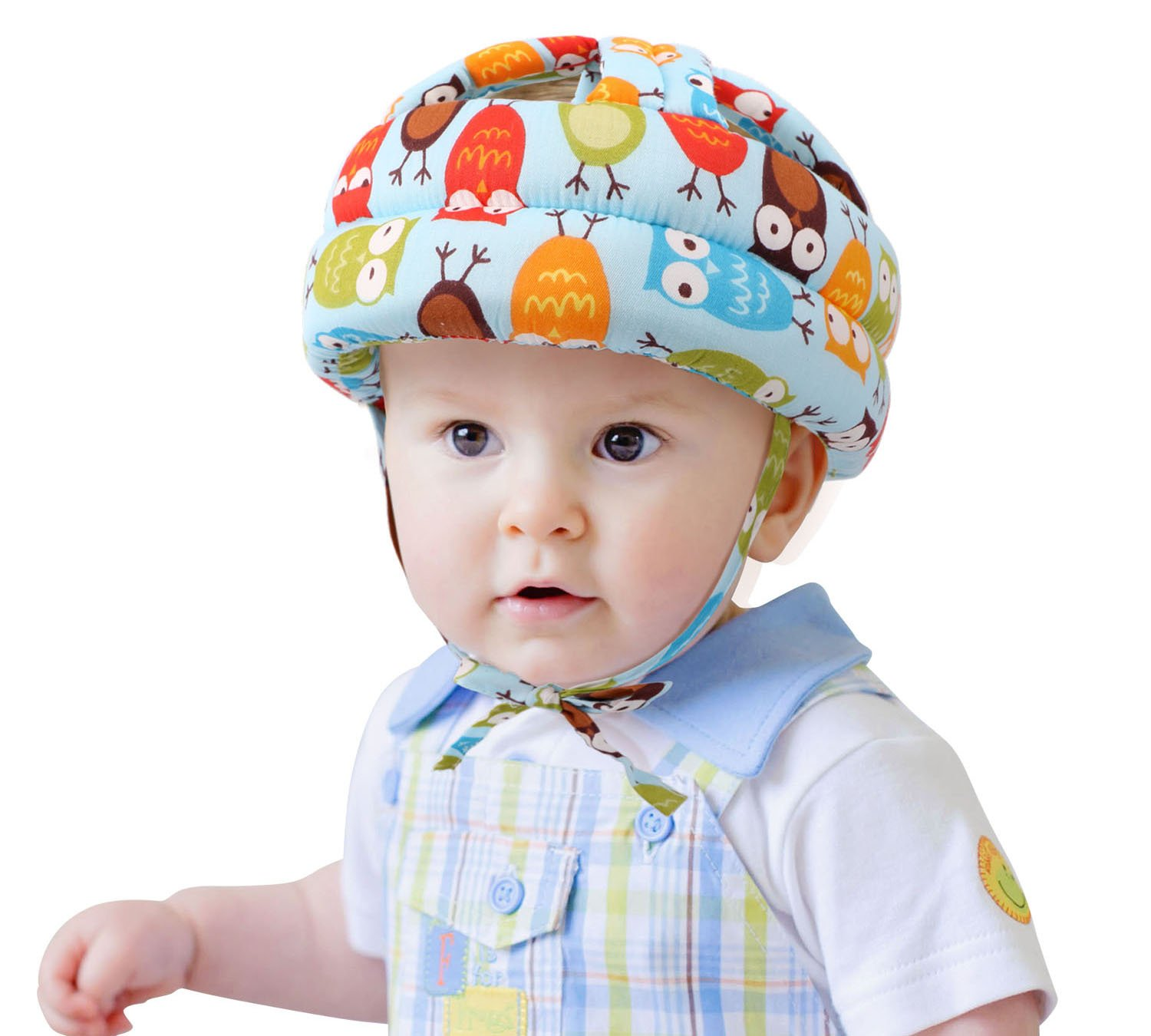 Baby Toddler's Safety Bumper Helmet Hat, Blue Owl