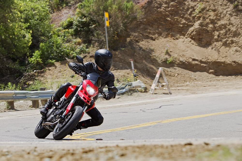 ScorpionEXO Unisex-Adult Modular/Flip Up Adventure Touring Motorcycle Helmet (Matte Black, Large) (EXO-AT950 Solid)