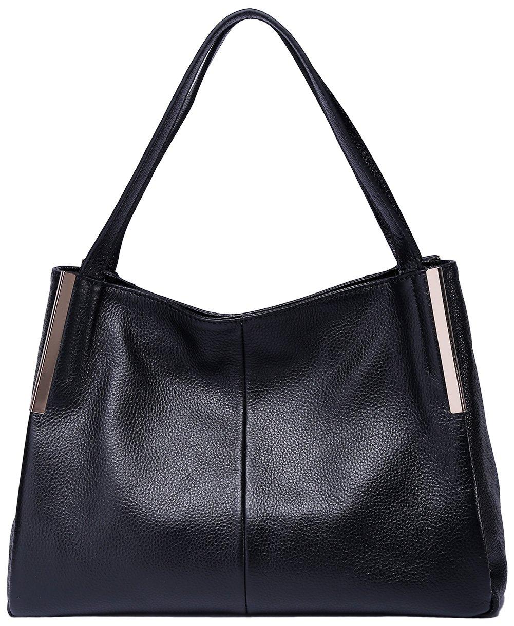 3d0547a917be Amazon.com: BOYATU Leather Handbags Crossbody Shoulder Bags for Women  Elegant Satchel Totes(Black): Boyatu