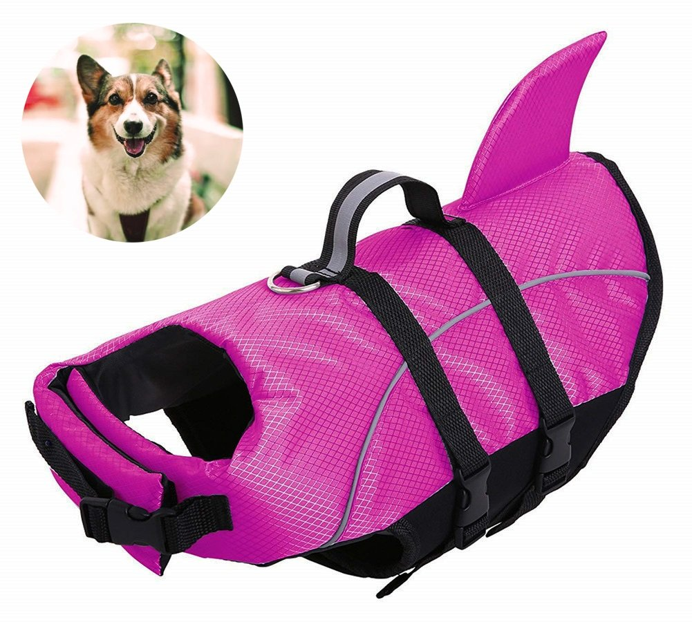 AOFITEE Dog Life Jackets - Ripstop Pets Life Vest, Reflective Float Coat, Safety Lifesaver for Small Medium and Large Dogs