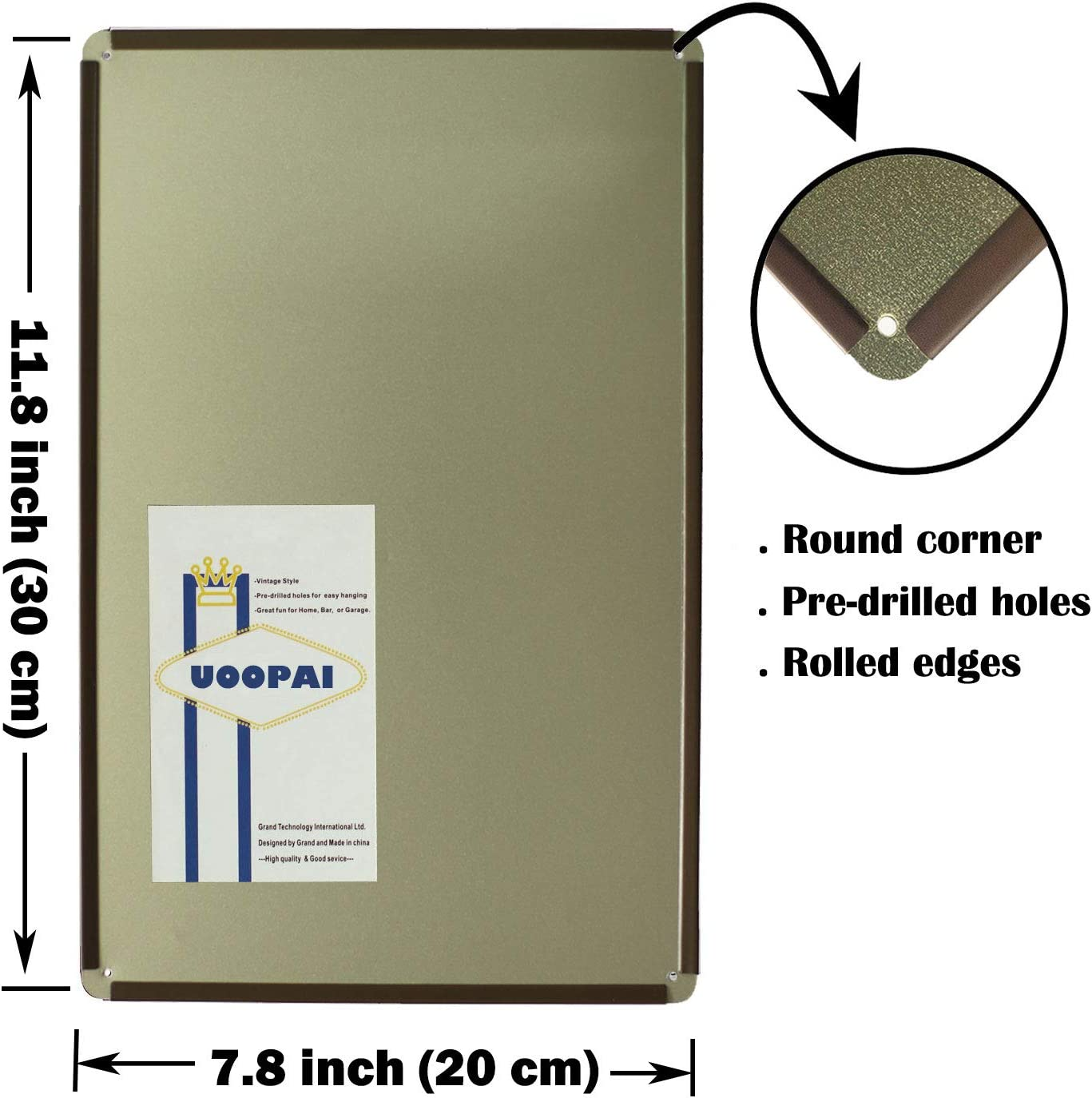 20,3 x 30,5 cm Cartel de Metal para decoraci/ón de esqu/ís y esqu/ís Tin Sign B309