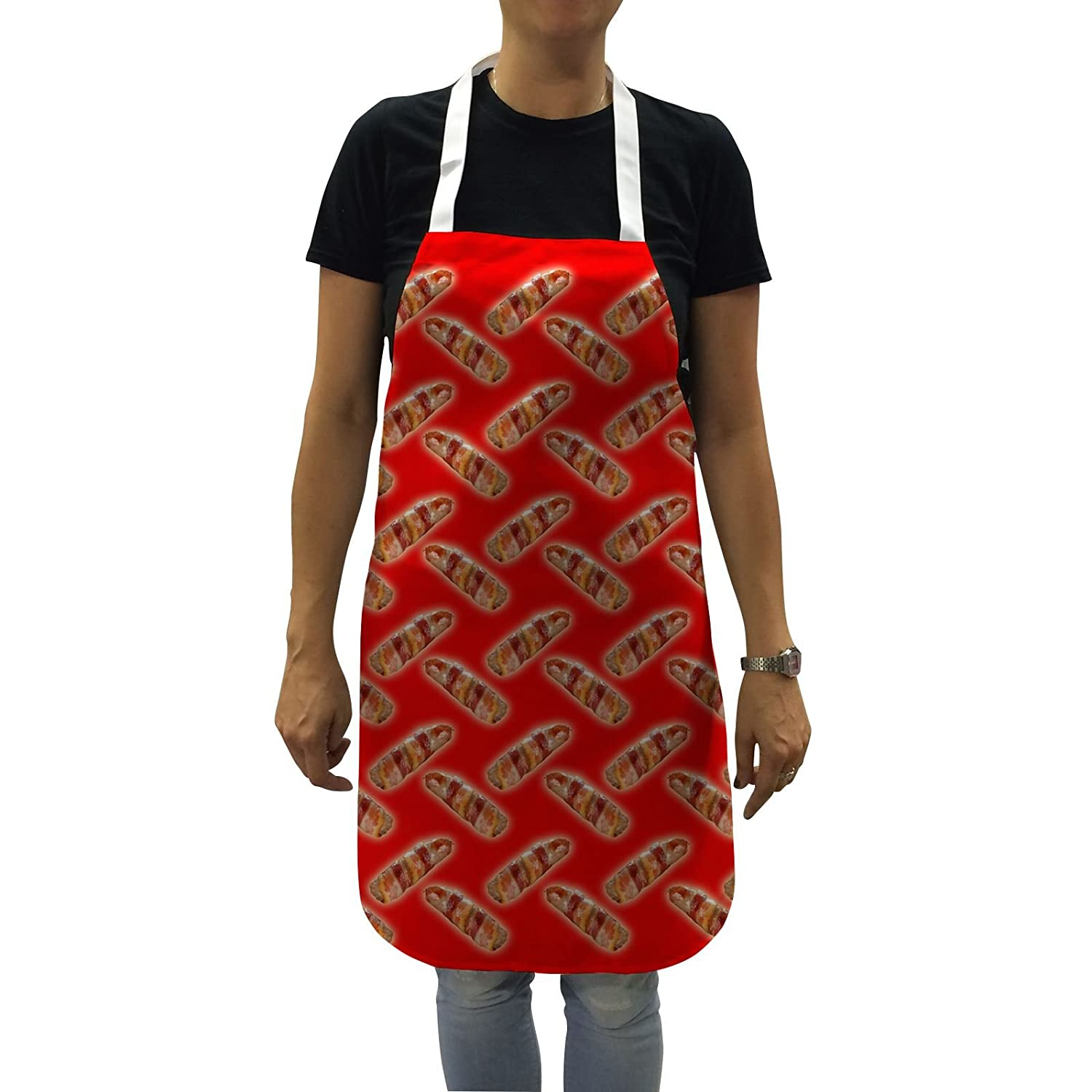 Funny Aprons for Women Pigs in Blankets Baking Gifts Kitchen Apron Cooking Chefs Bang Tidy Clothing