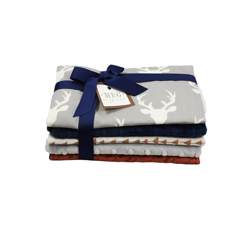 Deer & Arrows -Archer- Baby Boy Burp Cloth Set of 5, MEG Original 174