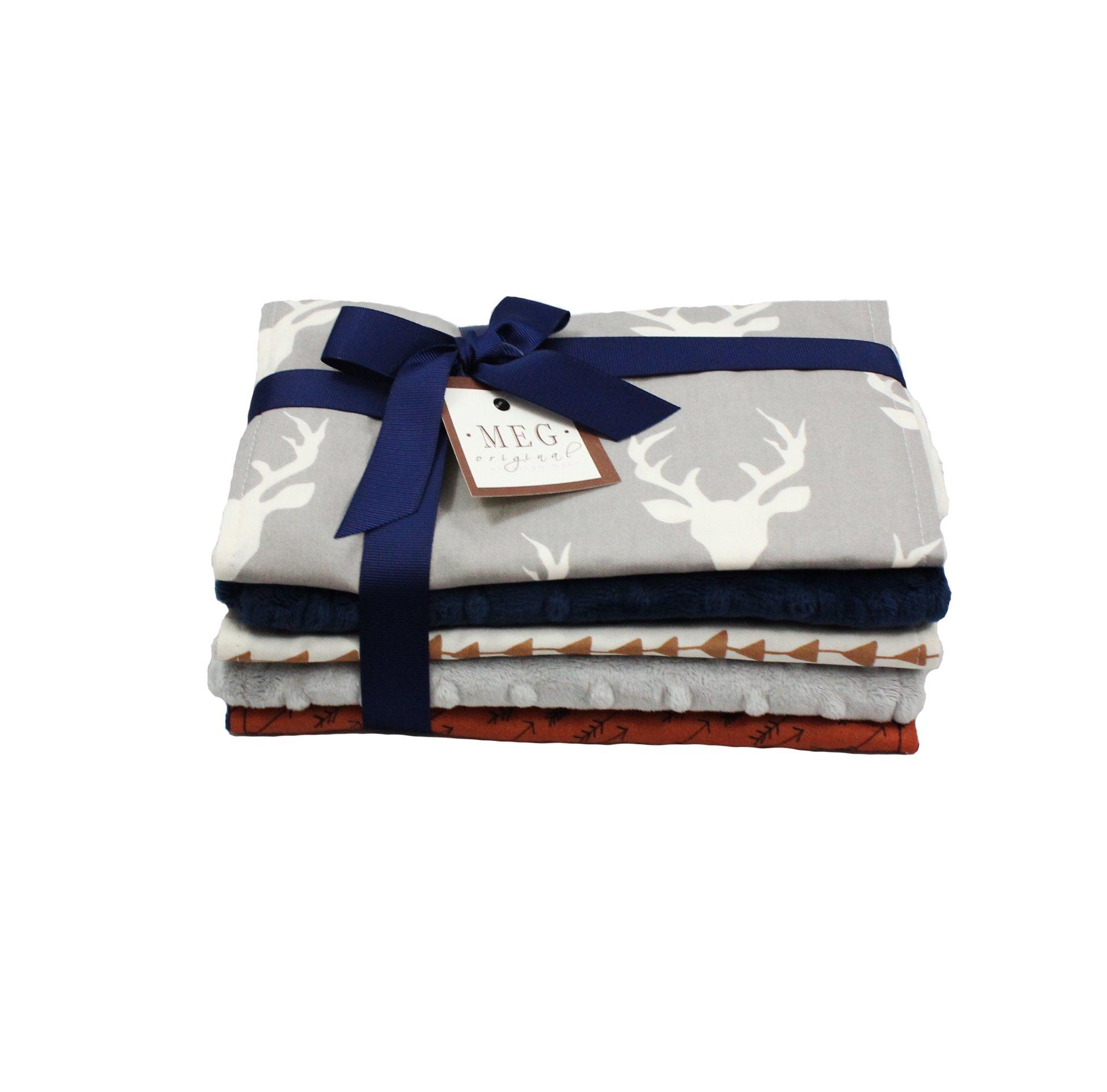 Deer & Arrows -Archer- Baby Boy Burp Cloth Set of 5, MEG Original 174 by MEG Original