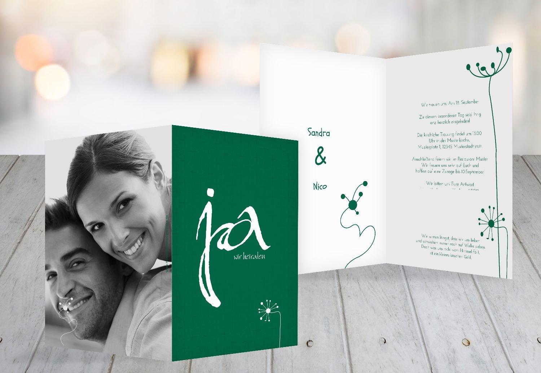 Kartenparadies Hochzeitskarte Hochzeit Einladung abstrakte Blaumen, hochwertige Einladung zur Heirat inklusive Umschläge   100 Karten - (Format  105x148 mm) Farbe  AquaTürkis B01NAUQBAC | König der Quantität  | Qualität Produkte  | Schenken Si