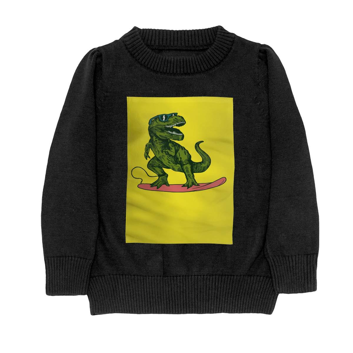 WWTBBJ-B Happy Dinosaur Surfer Wearing Sunglasses Style Adolescent Boys /& Girls Unisex Sweater Keep Warm
