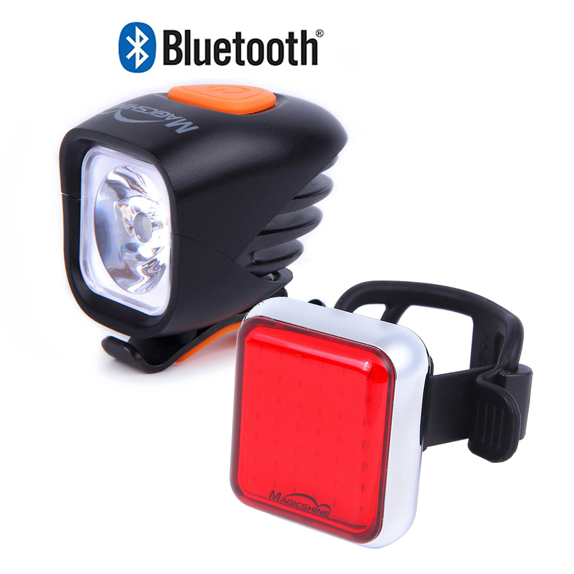 Magicshine Road bike light combo, commuter bike headlight and taillight set, warning light, safety light for urban and city cyclists, portable and convenient (Commuter Set)