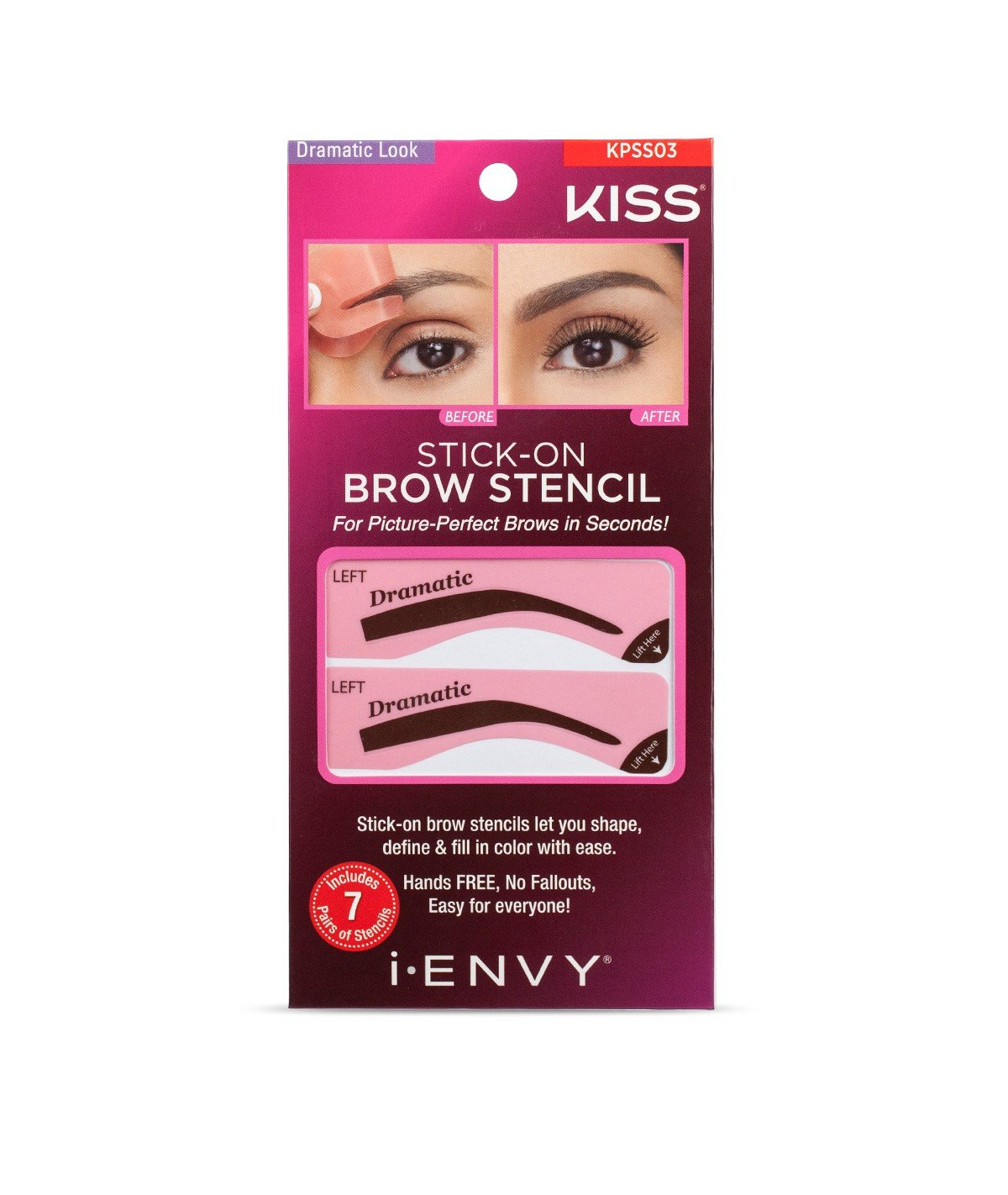 Amazon I Envy By Kiss Stick On Brow Stencil Kpss01 Natural