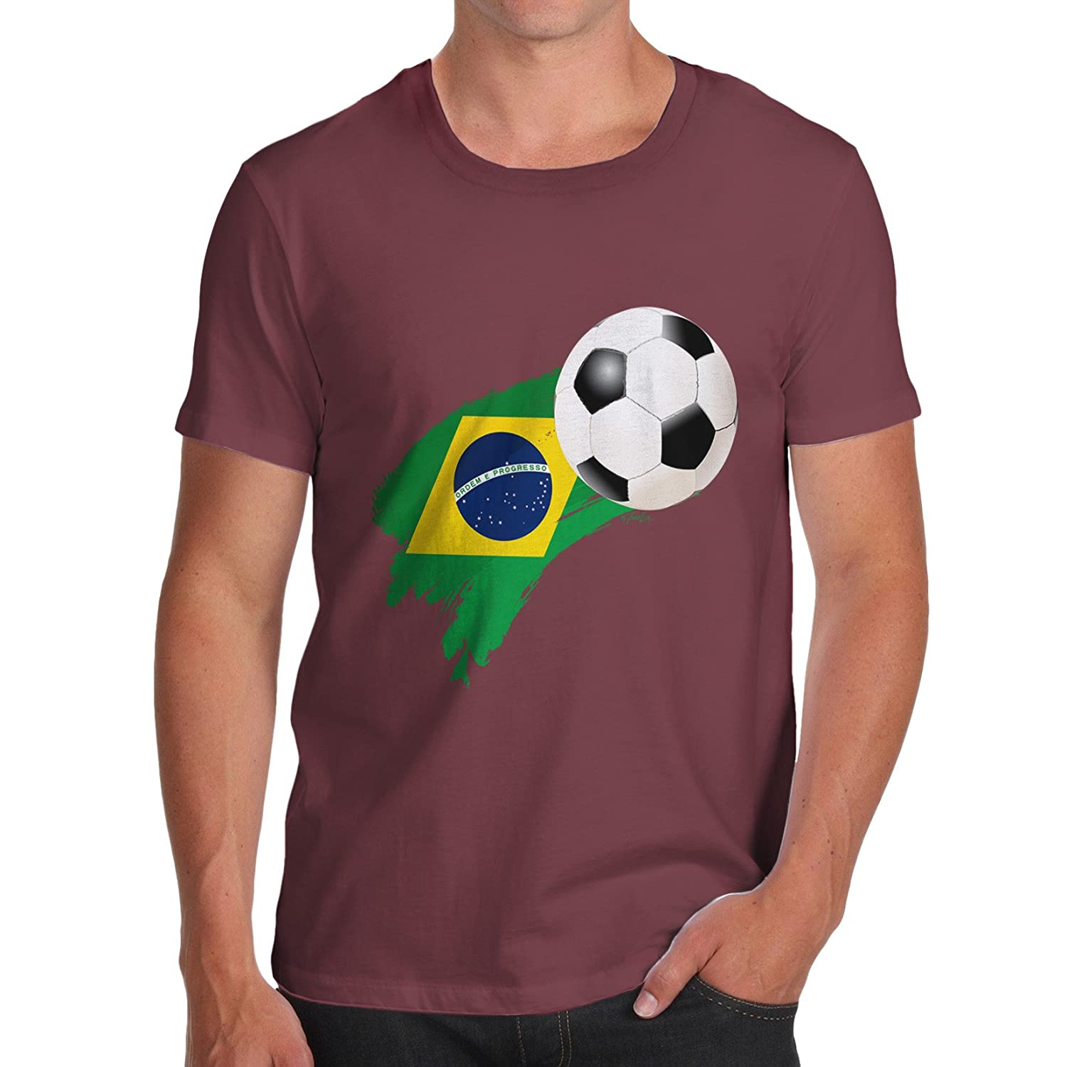 TWISTED ENVY Baby Pants Brazil Football Soccer Flag Paint Splat