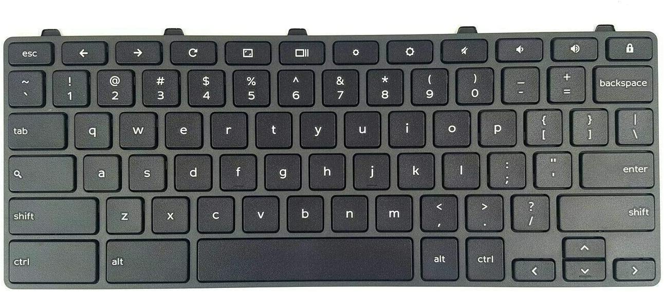 Moon2020 Replacement US Keyboard for Dell Chromebook 3100 5190 Laptop No Backlight TPN-136US001909 AE09U018 NSK-EJ1SW