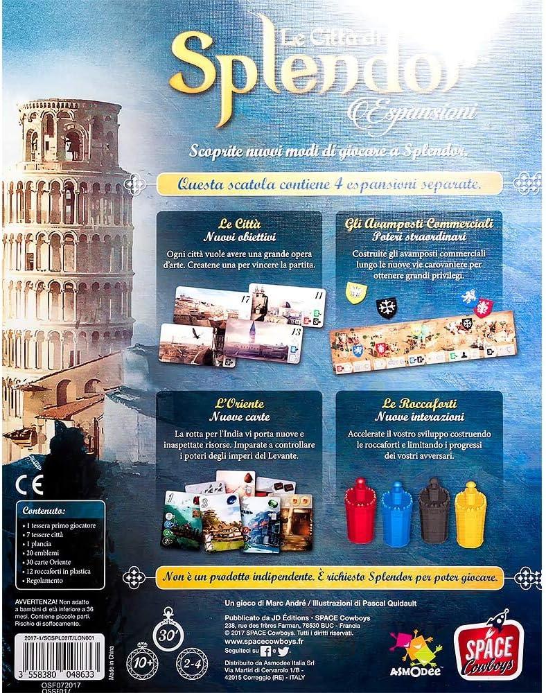 Asmodee Italia - Ciudad de Splendor expansión Juego de Mesa, Color ...