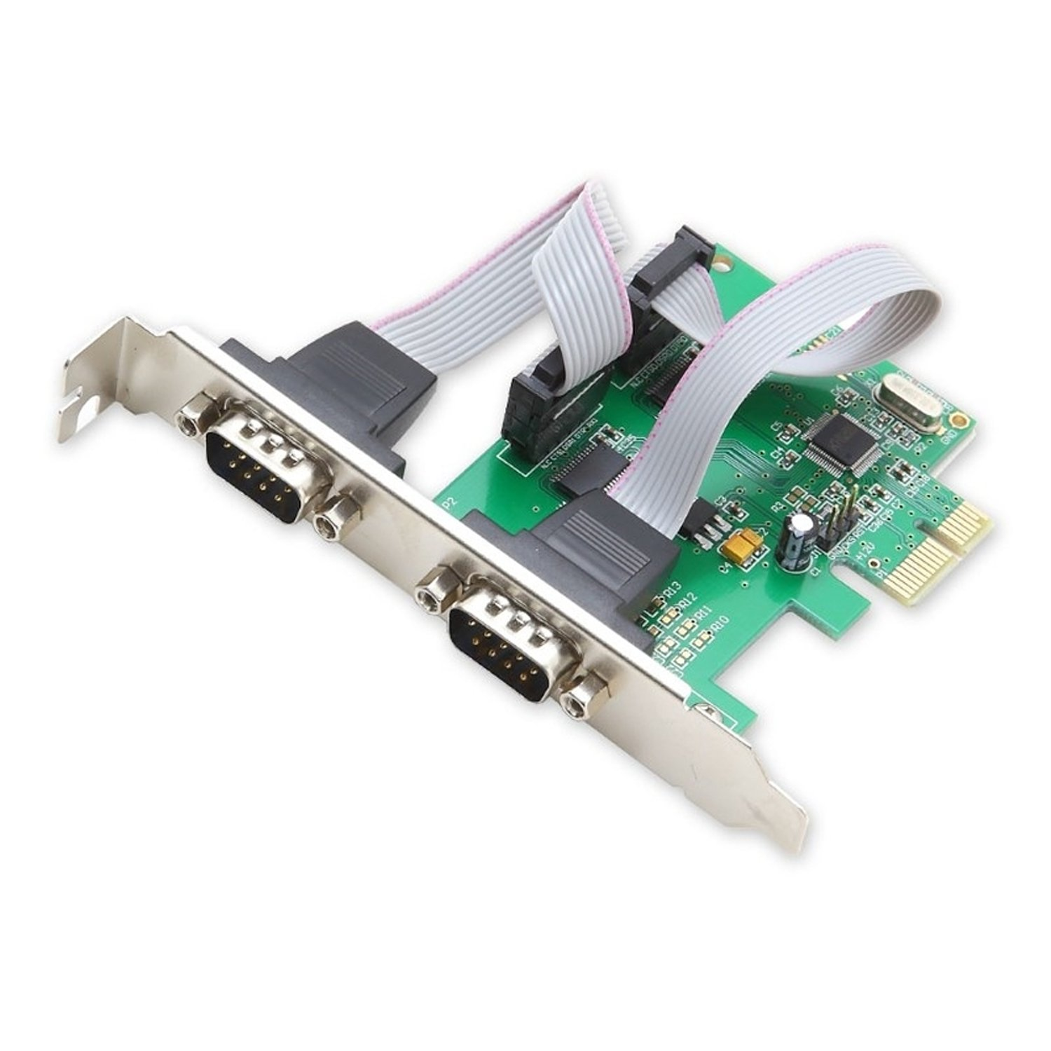 SYBA SI-PEX15037 2 Serial Ports PCI-e Controller Card with Low Profile Bracket