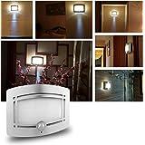 PHOEWON - Lampada LED da parete, applique per interni, con rilevatore di movimento, ottima per androne, corridoio, scale guardaroba e bagno