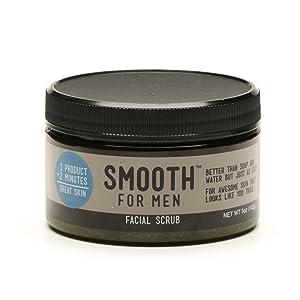 Smooth for Men Green Tea with Tea Tree Oil Facial Scrub