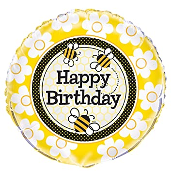 18quot Foil Bumble Bee Birthday Balloon