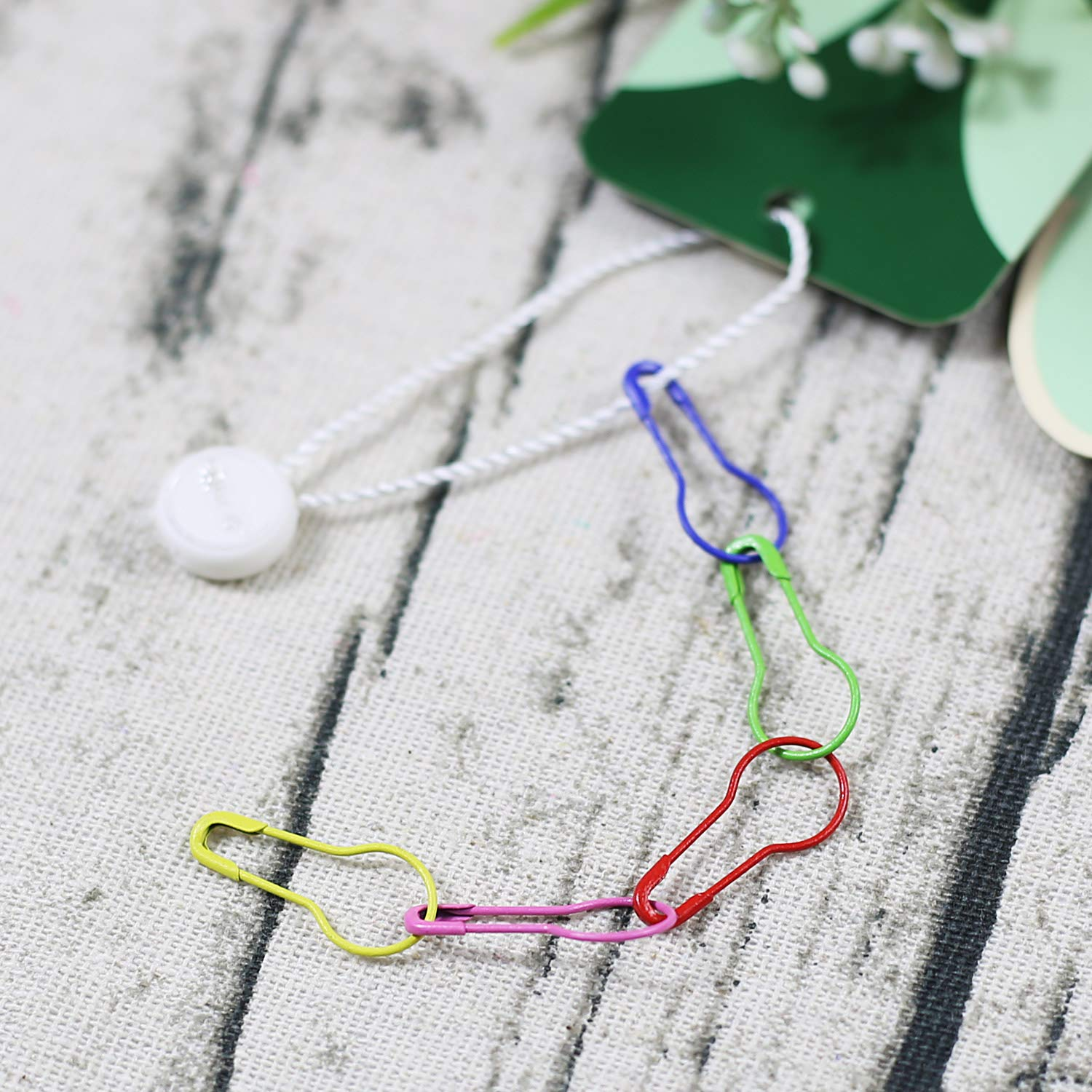 Knitting Stitch Marker Sewing Clothing DIY (300 PCS) AnMiao Star 10 Colors Safety Pins Gourd Pins for Knitting Stitch Markers