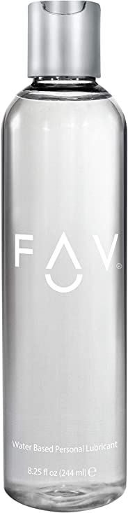 FAV Water Based Luxury Personal Lubricant, 8.25 Ounces