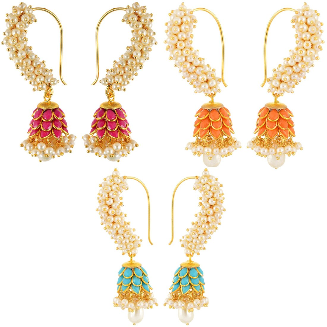Buy Aabhu Fashion Jewellery Gold Plated Modern Fancy Party Wear