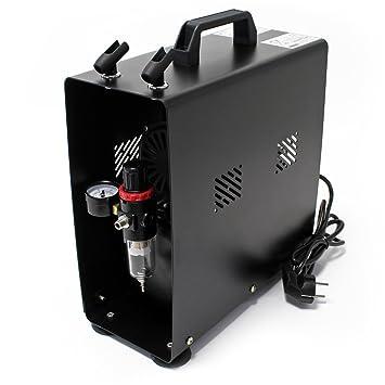 Compresor Aerógrafo AF189A Regulador Presión Parada automática Tanque Aire 6 bar: Amazon.es: Bricolaje y herramientas