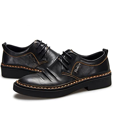 Men's Lace Up Oxford Dress Shoes Full Grain Leather Working Shoes:  Amazon.ca: Shoes & Handbags